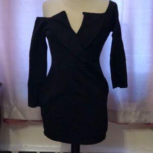 Windsor - Black Wrapped Up Body-con Dress